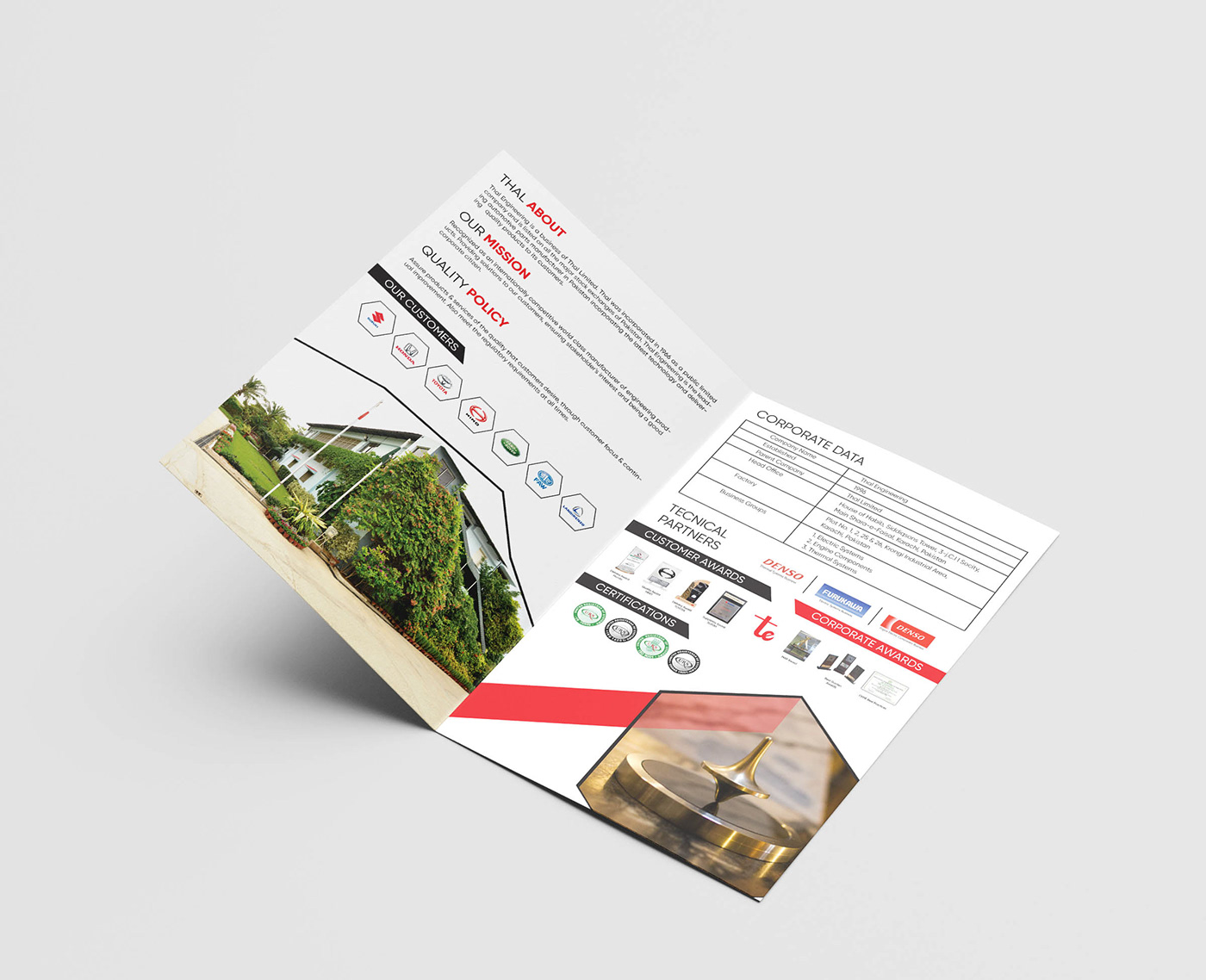 automotive   Broucher car broucher Engineering  fornt back leaflet design NABS nabs group Time Line