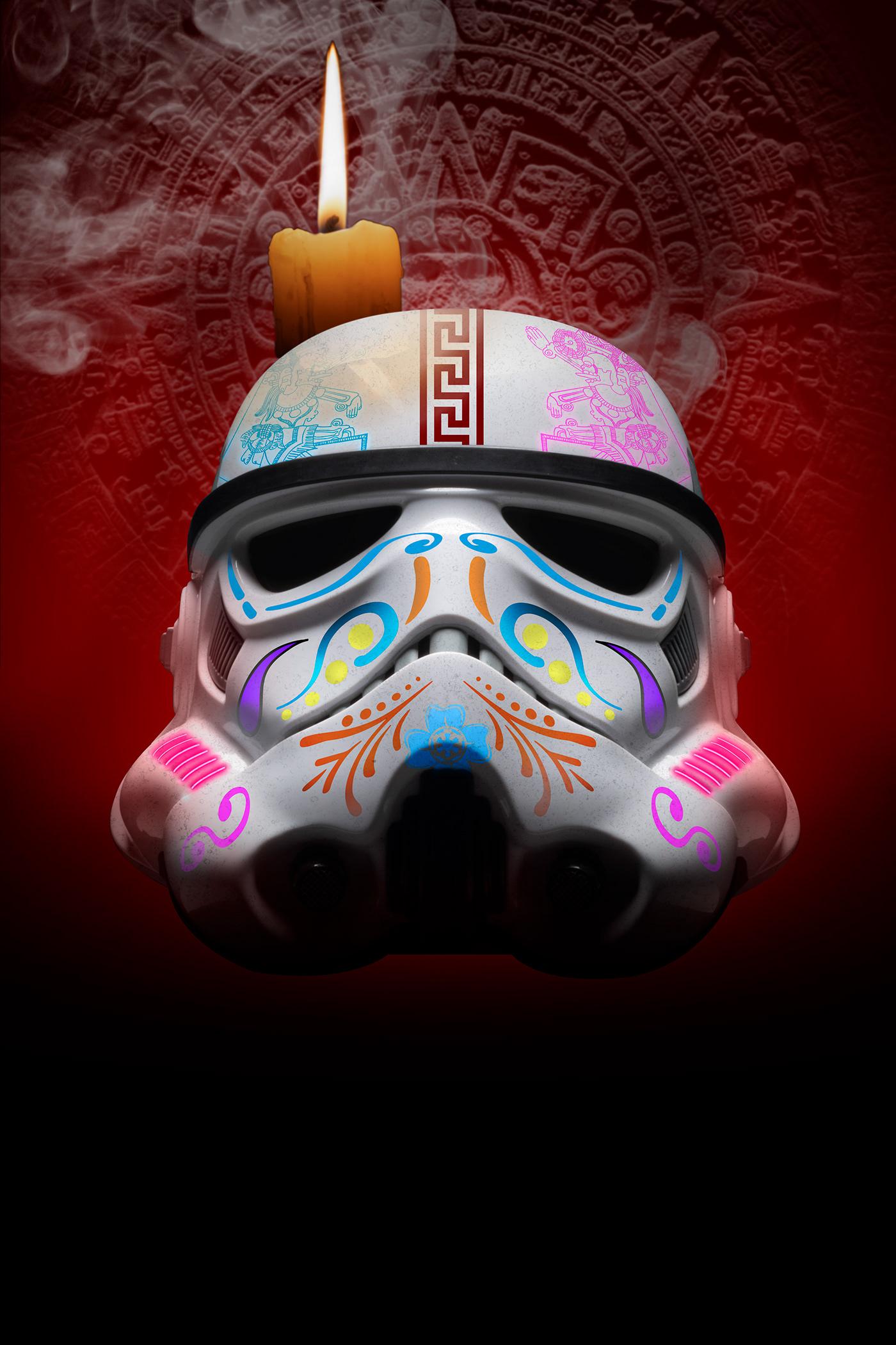 Dia De Muertos edición mexico photoshop star wars