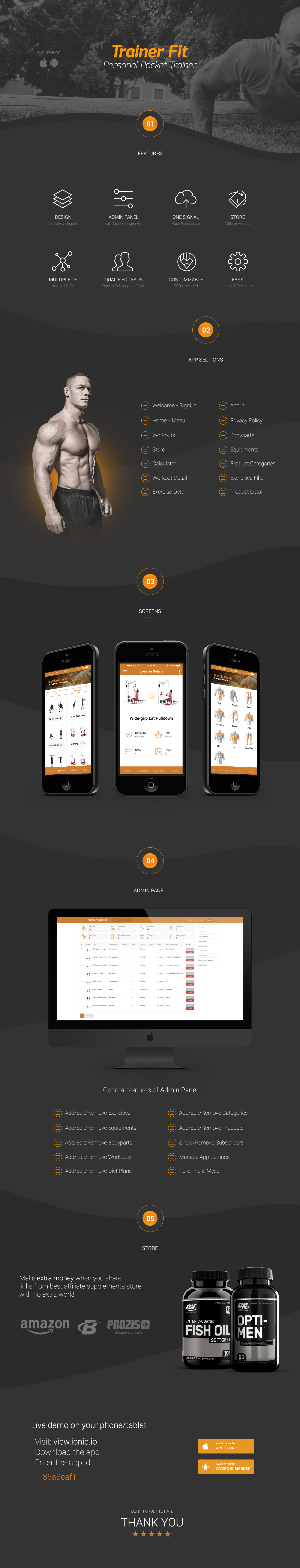Trainer Fit | Complete Fitness App + Admin Panel | Ionic 1 - 2
