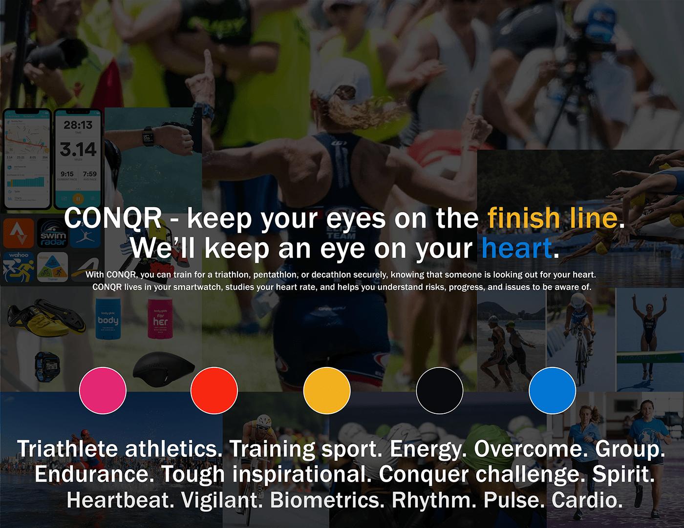 athletics app mockup runner biker Triathlon triathlete swimmer jogger sprint race