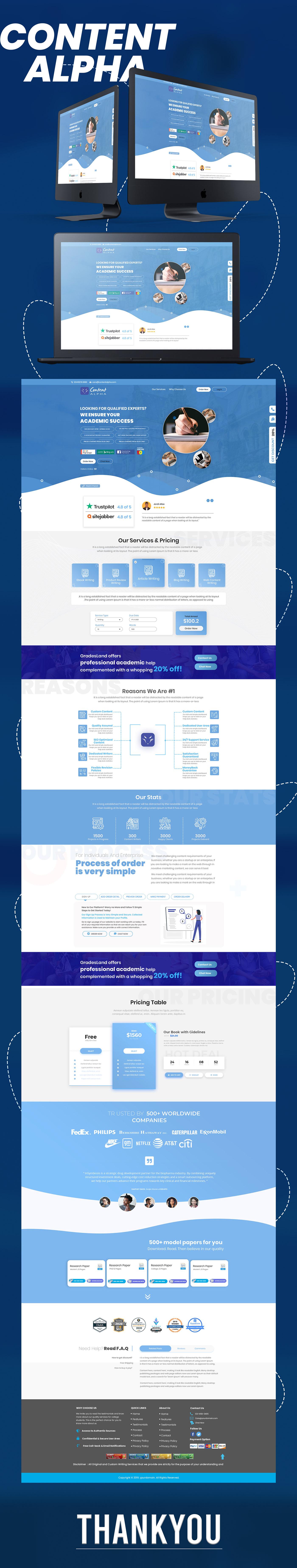 landingpage UI/UX Webdesign