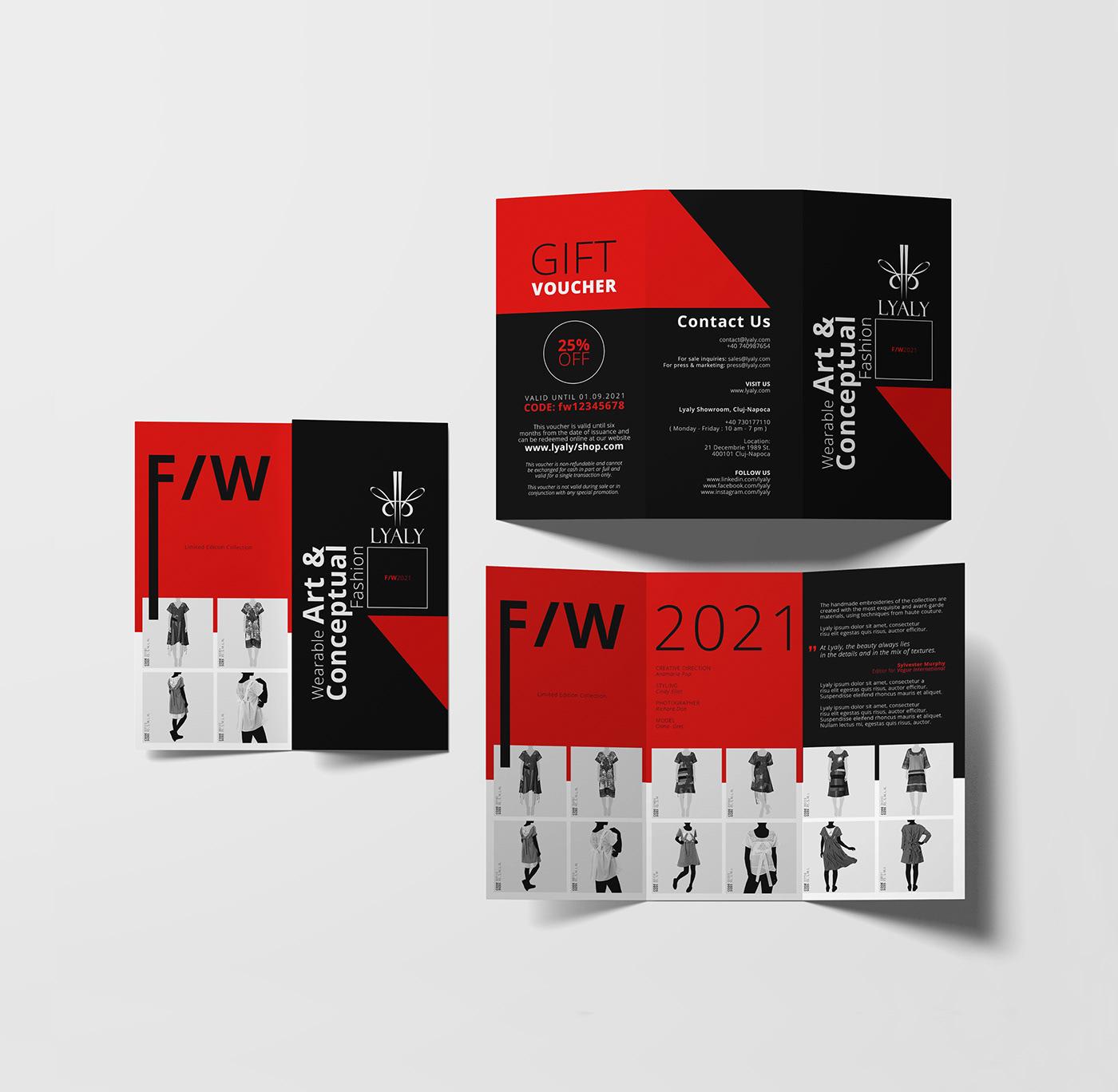 brochure catalog design editorial Fashion  flyer print trifold Lookbook voucher