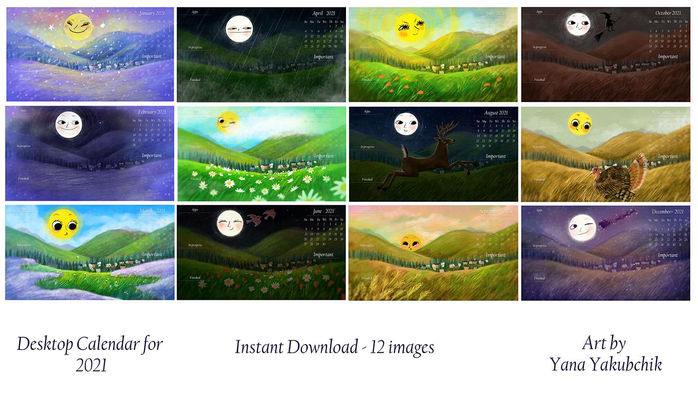 calendar desktop background desktop calendar Desktop Wallpaper Moon and Sun