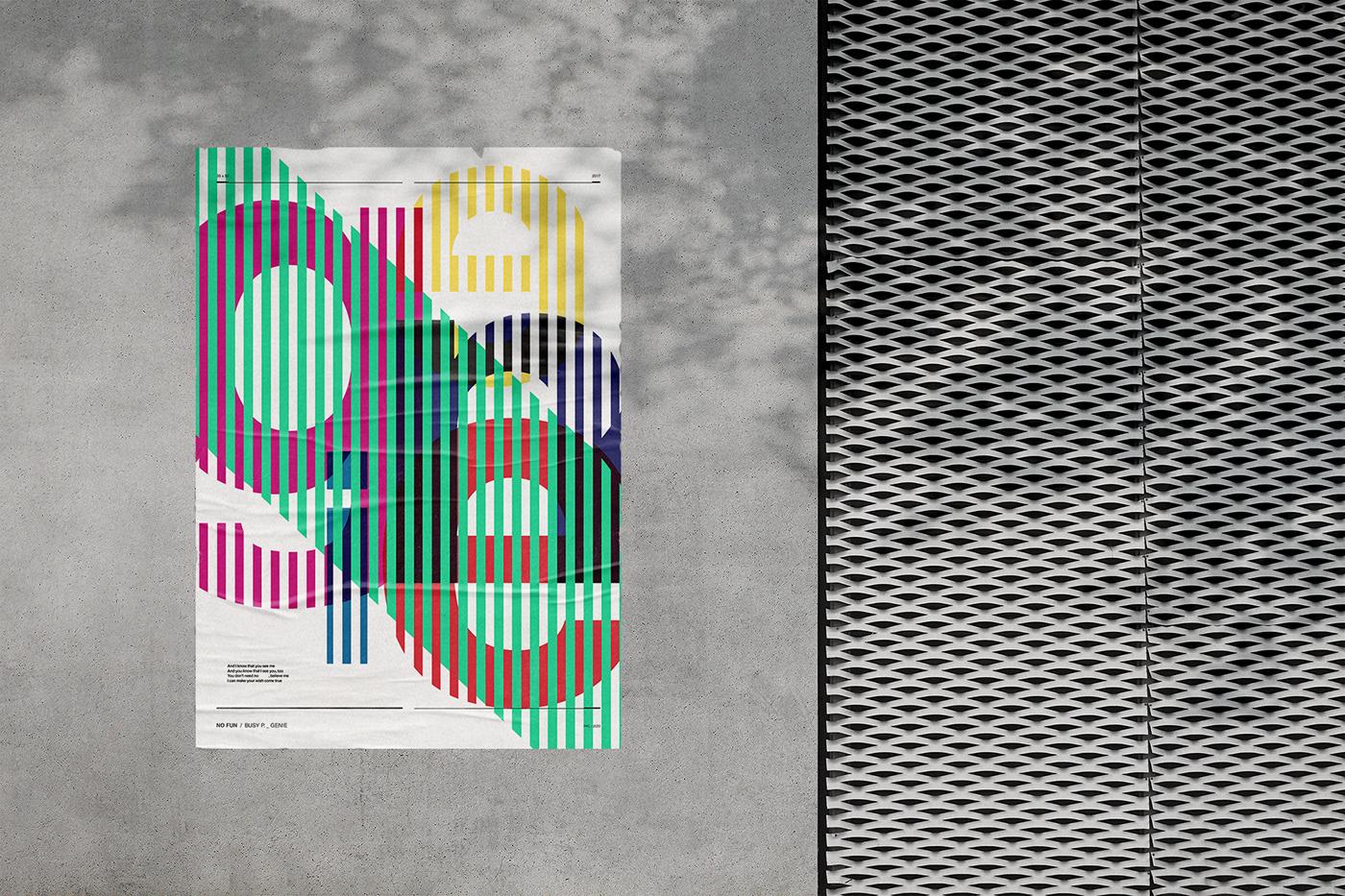 artwork electronic graphic design  ILLUSTRATION  Lyrics Poster music poster Poster Design print typography