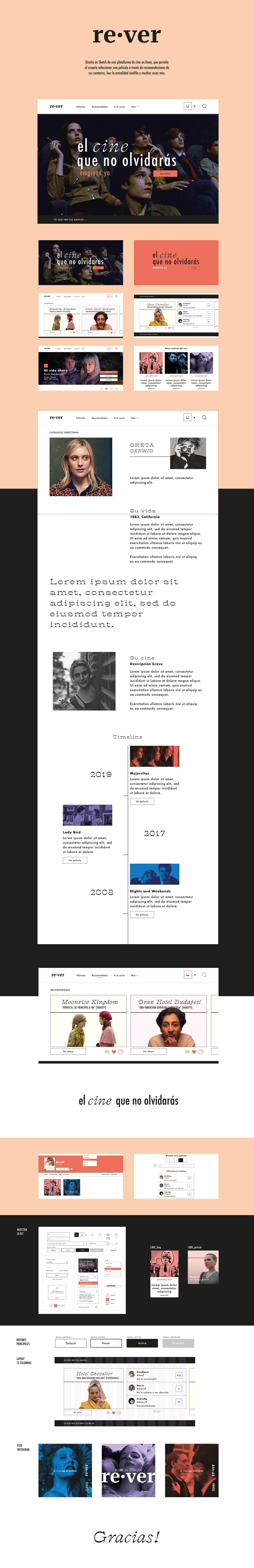 Cinema UI user interface Web Web Design