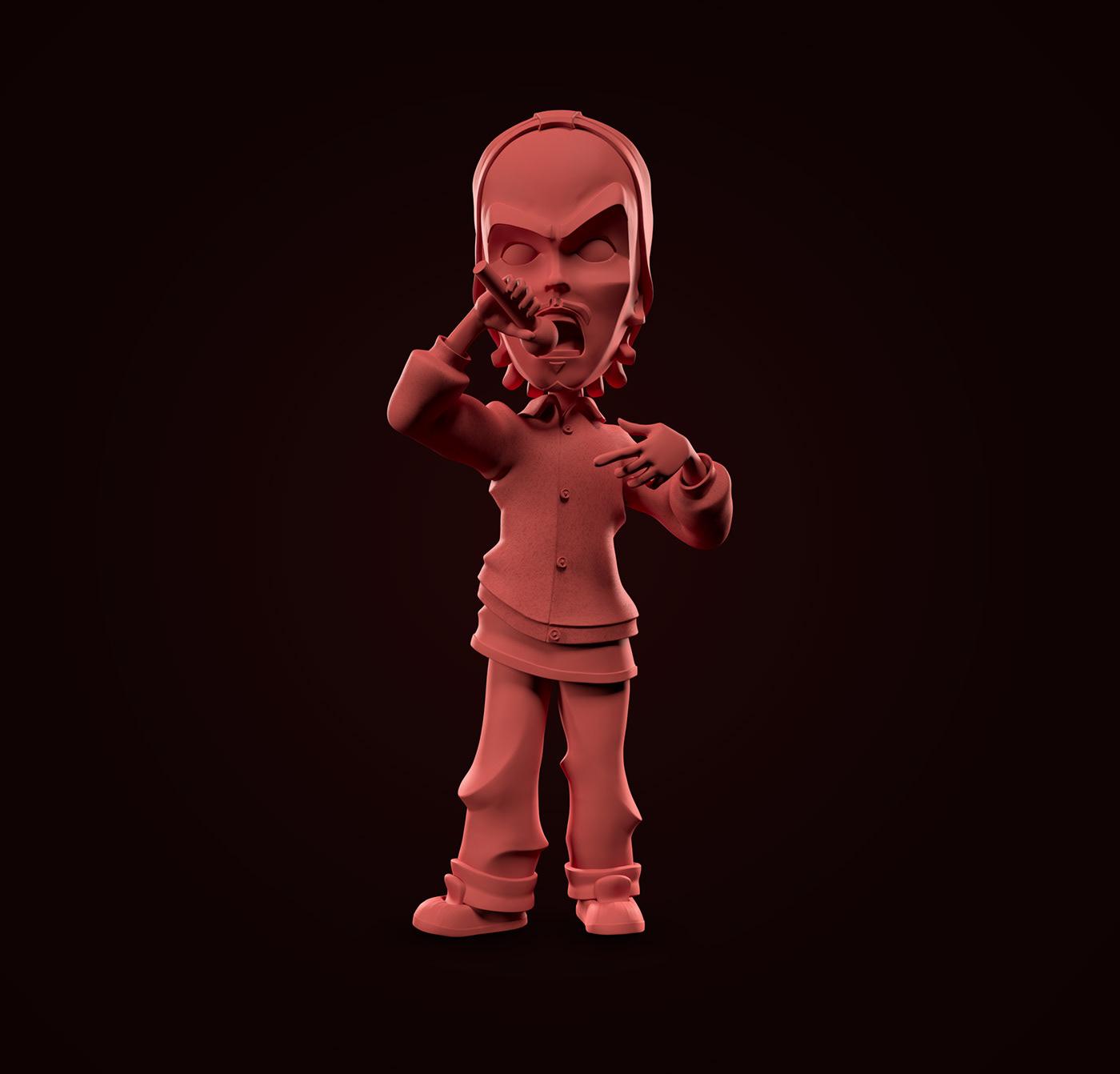 3D Character eduardo taddeu hiphop Mascot mascote modeling music personagem rap