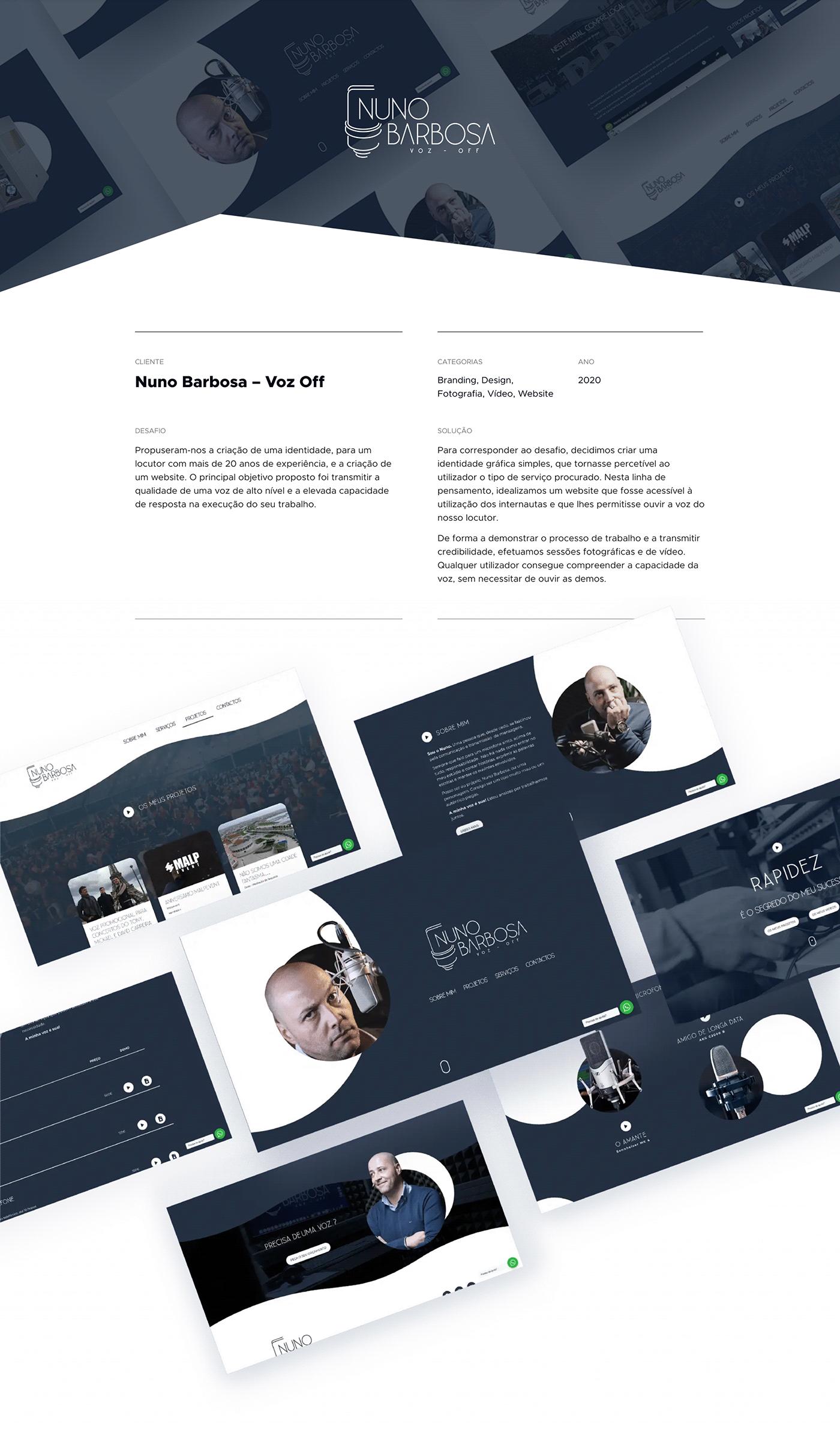 branding  design gráfico Voice Over Web Web Design  Website