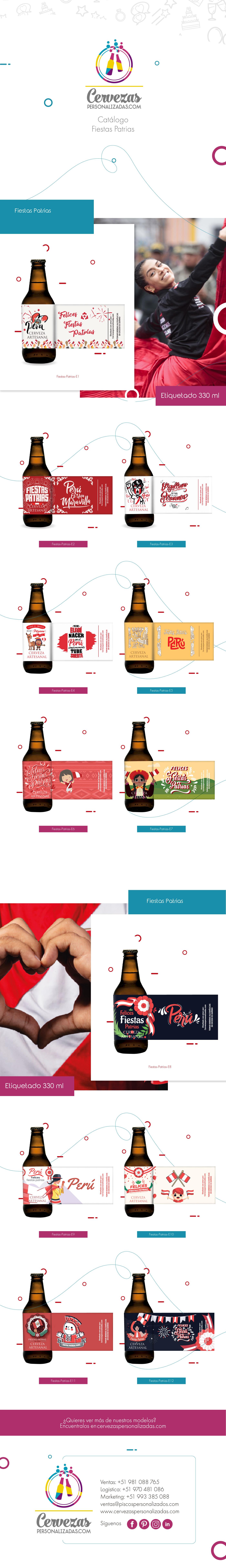 cervezas personalizadas regalos corporativos  regalos fiestas patrias regalos personalizados