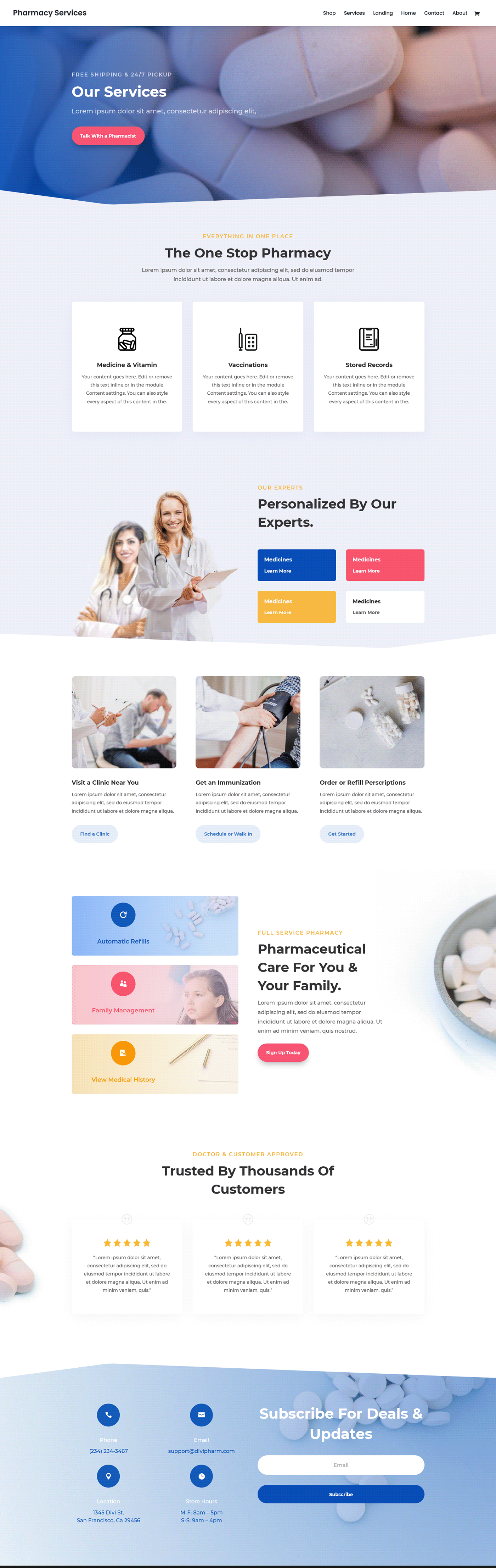 Business Website landing page pharmacy nice pharmacy website Pharmacy Landing Page Pharmacy Website pharmacy website design Website Design website development website for pharmacy zaman ador