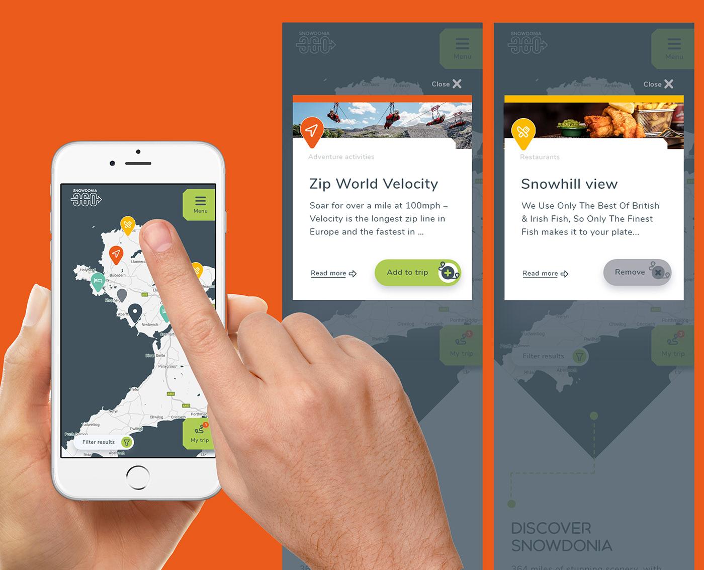 graphic design  Snowdonia snowdonia 360 UI ux Website Website Design Welsh