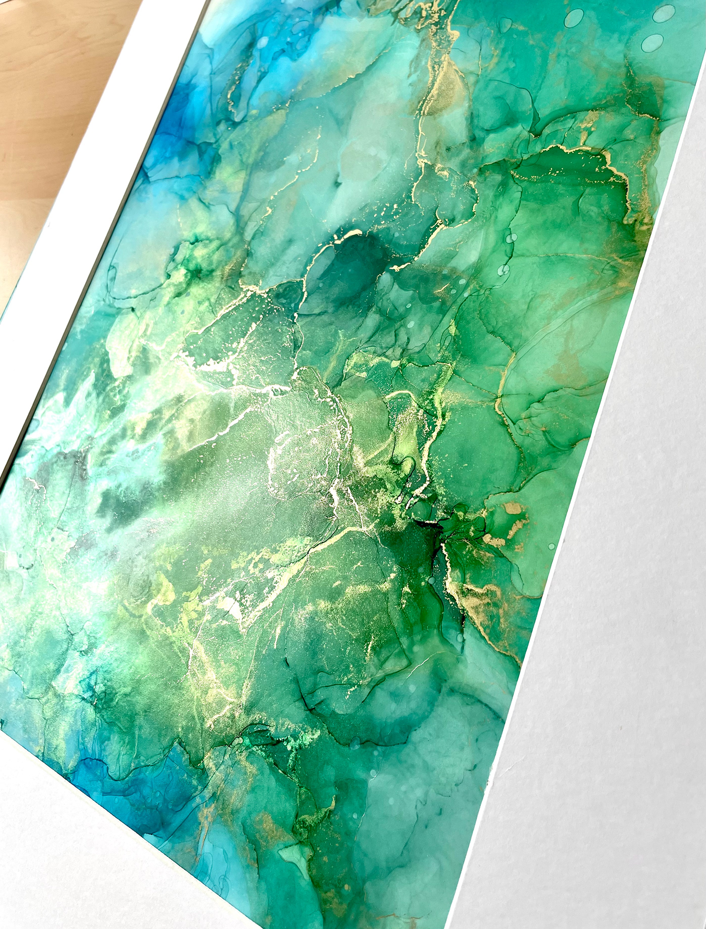 abstract alcohol ink Colourful  contemporary delicate flowing modern monochrome striking wall art