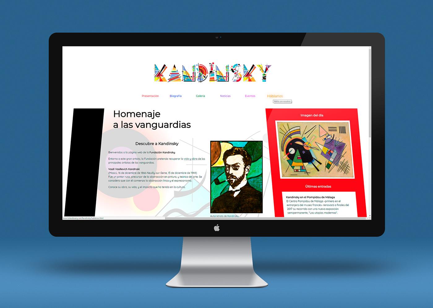 Página web de Kandinksy