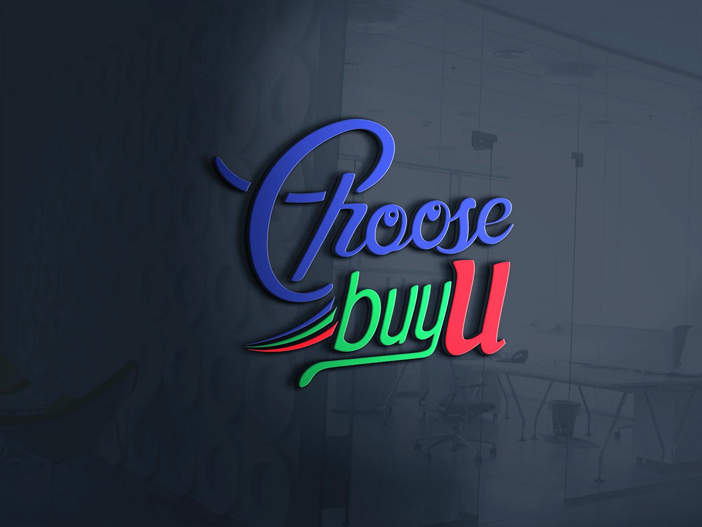 choose choose buy u logo Logo Design