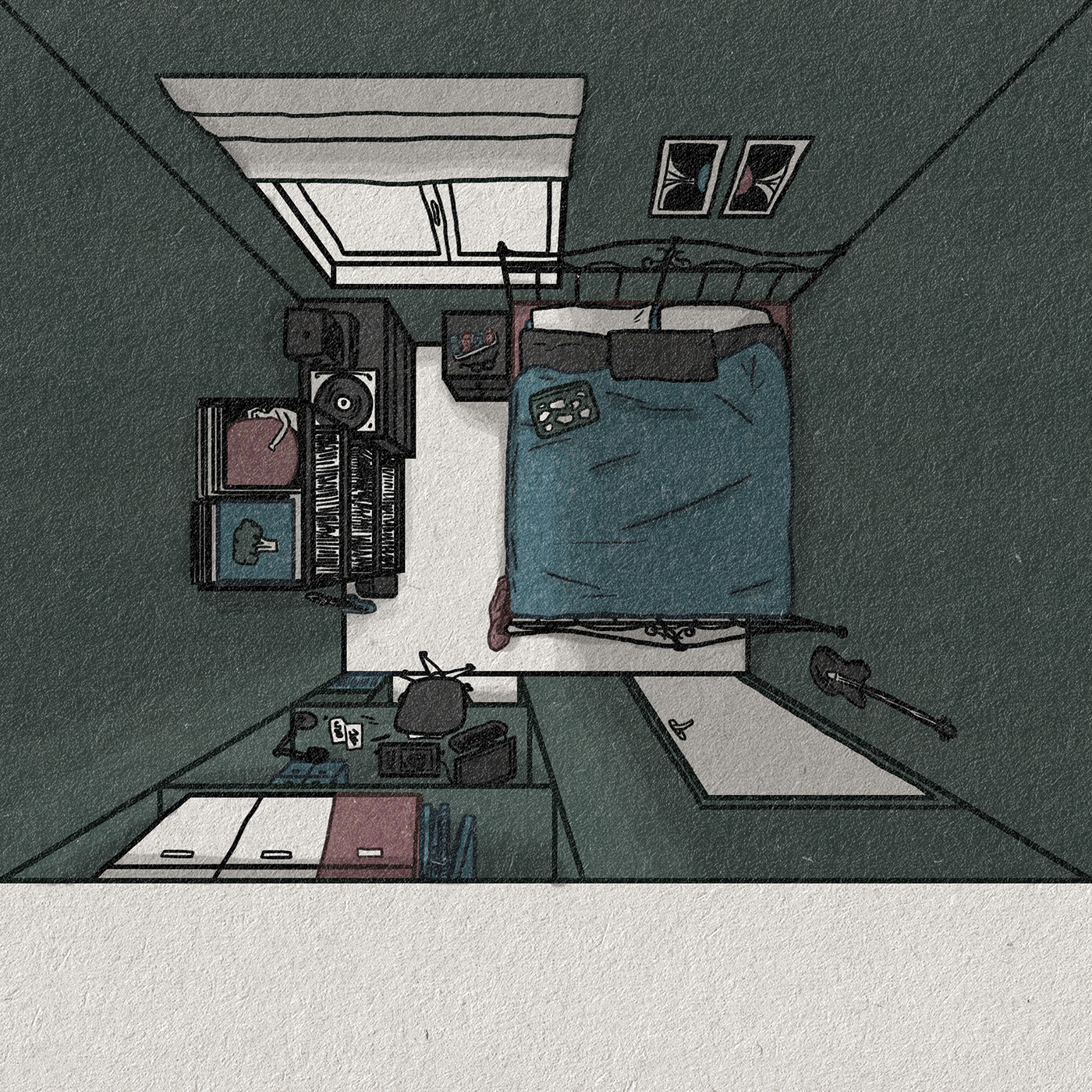 design Digital Art  ILLUSTRATION  Limited colour lockdown personal project texture