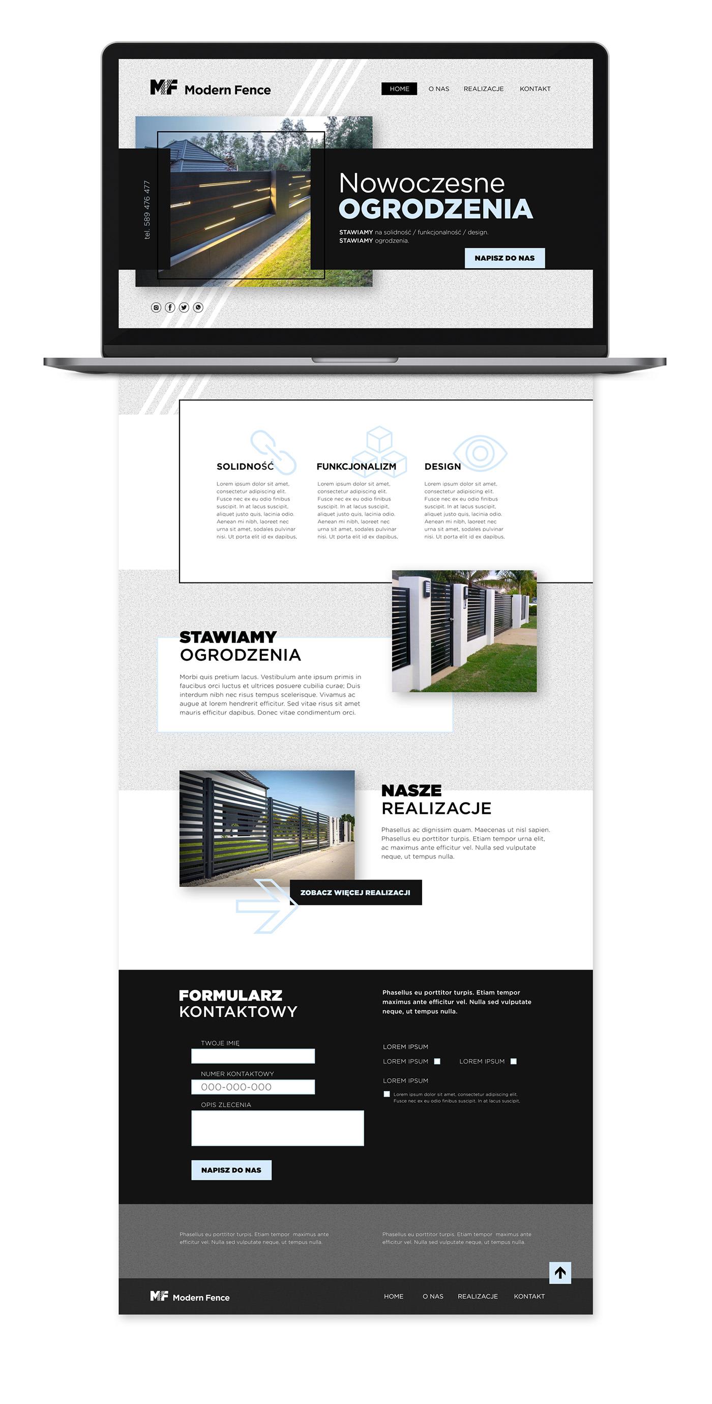 black fence graphic logo minimalistic modern visual identity