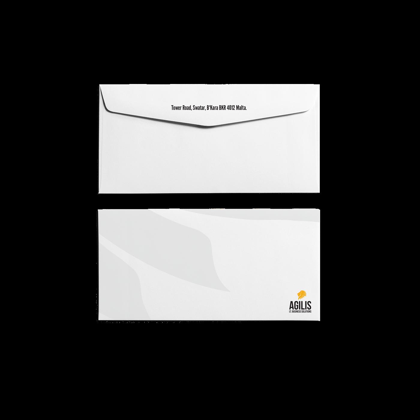 Agilis software company solutions logo stationary