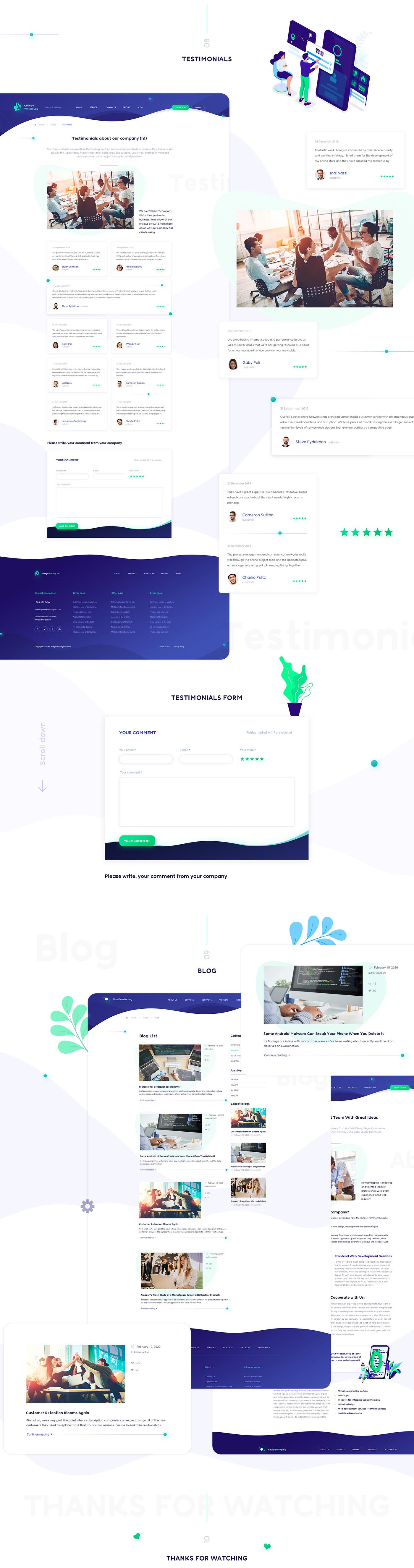 Digital Web Agency - Flat Website Design