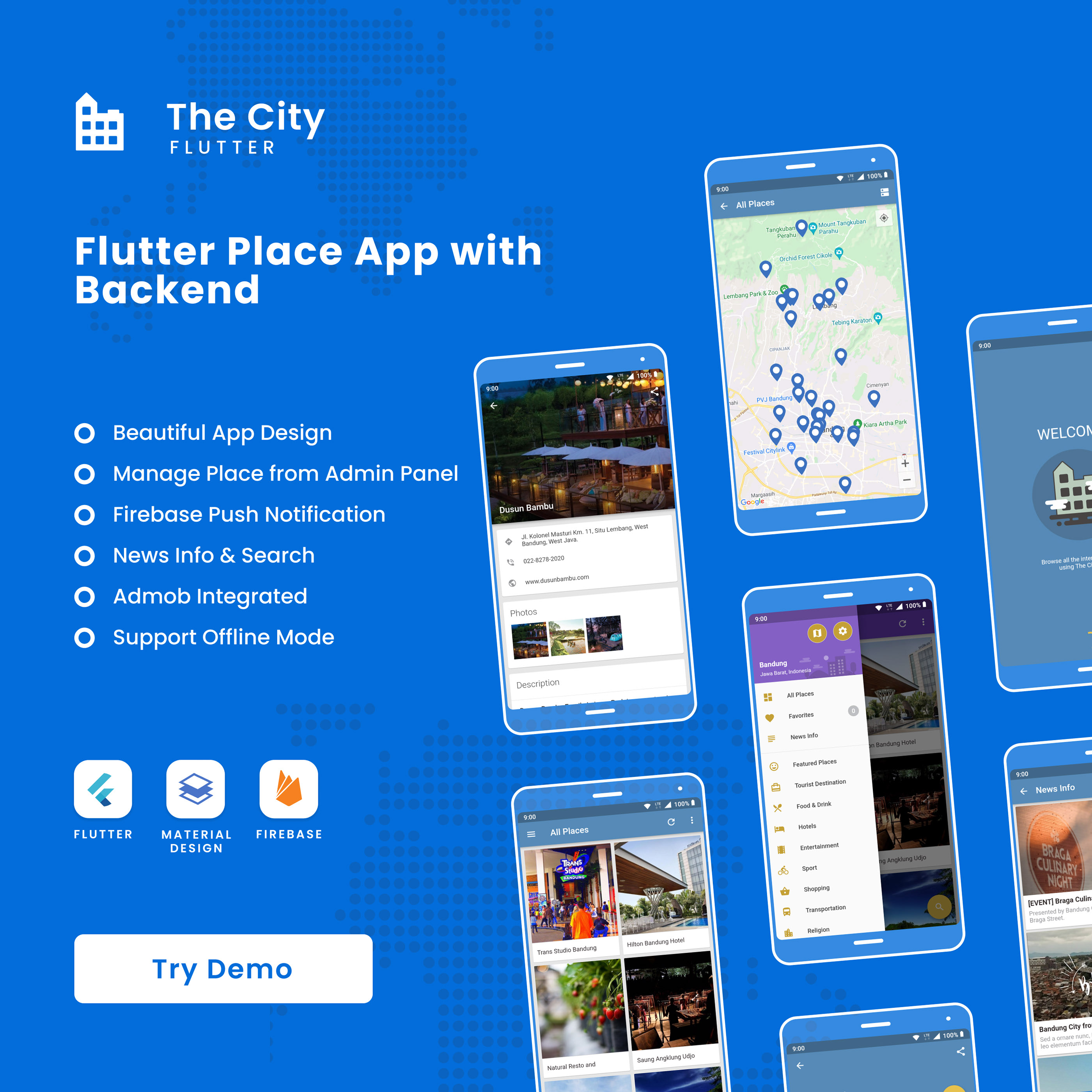 The City Flutter - Place App with Backend 1.0 - 1