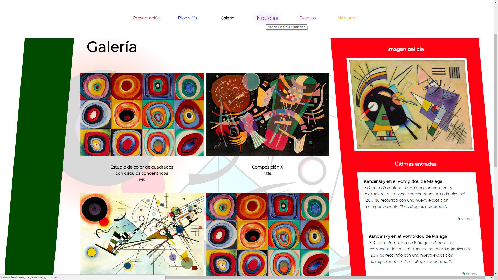 página de Kandinsky: la galería