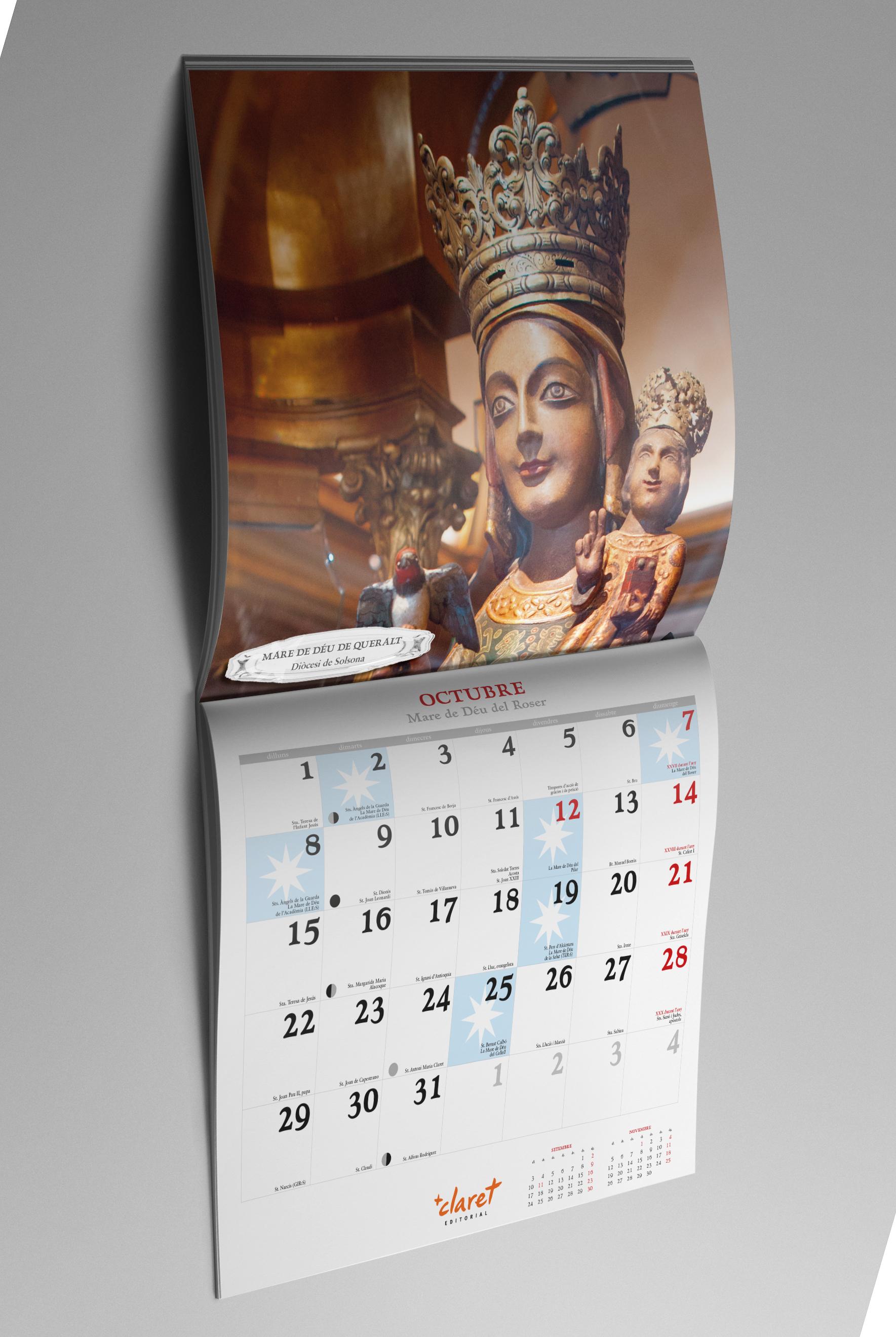 Ejemplo de mes del calendario