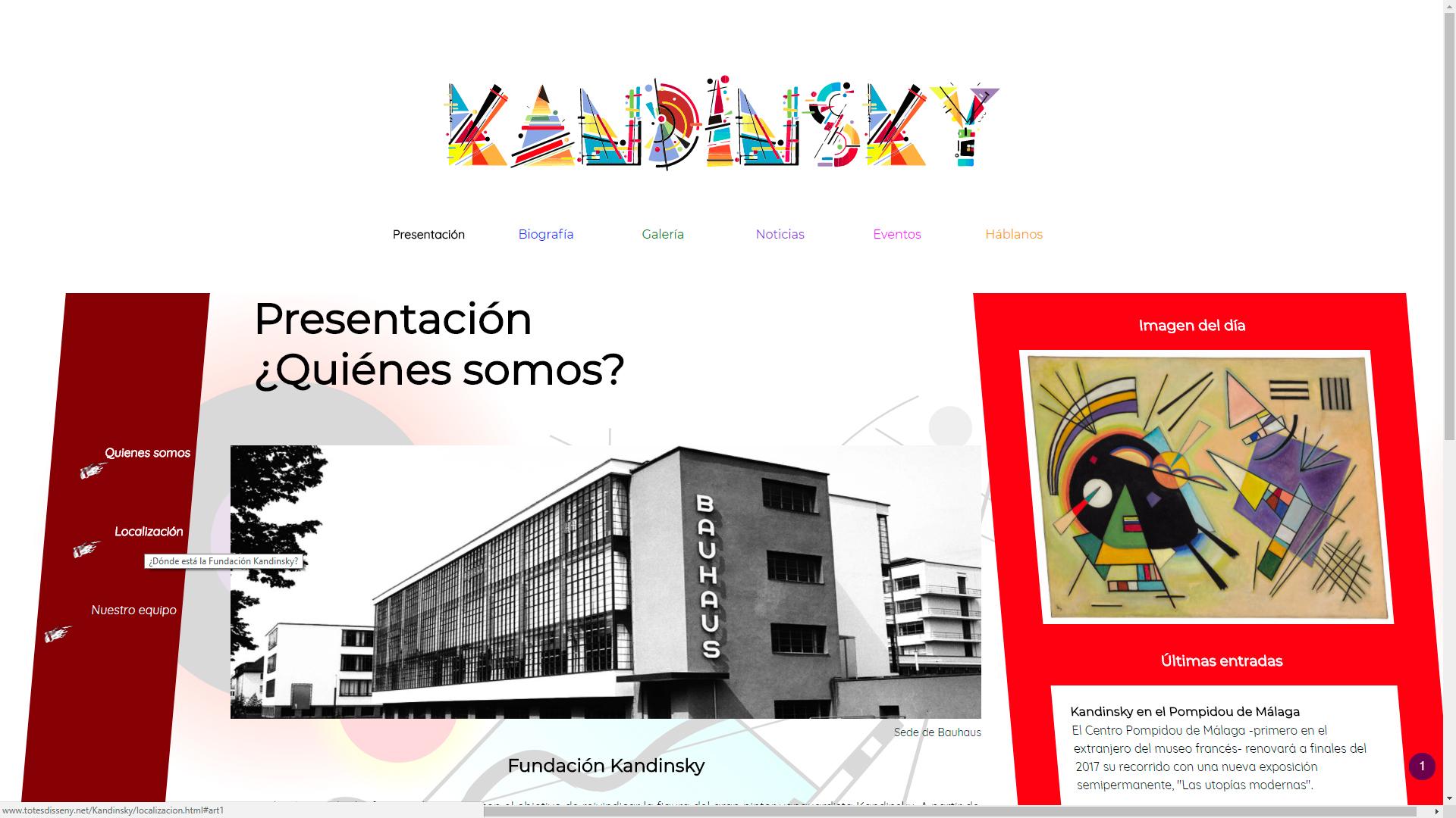 Otra de las páginas de Kandinsky