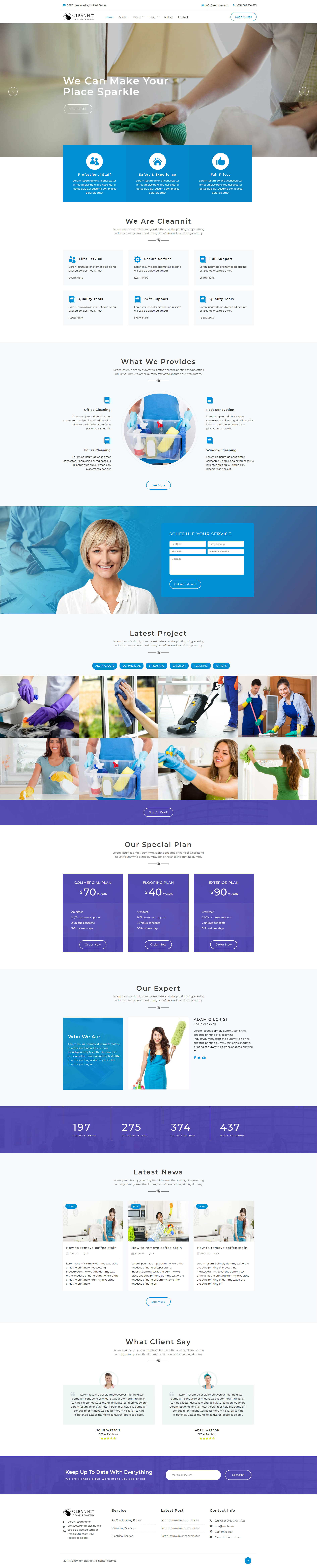 CleanNit - Cleaning Company Responsive Website - 1