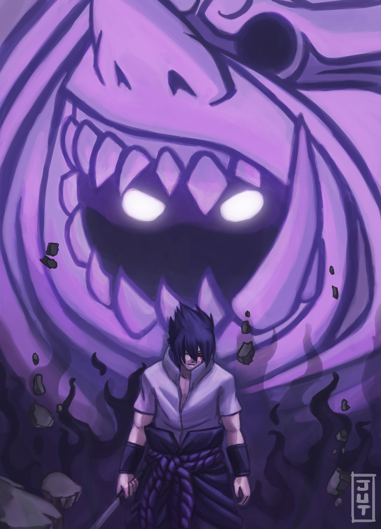 Uchiha Sasuke - digitalart, digitalillustration - juliastorybored | ello