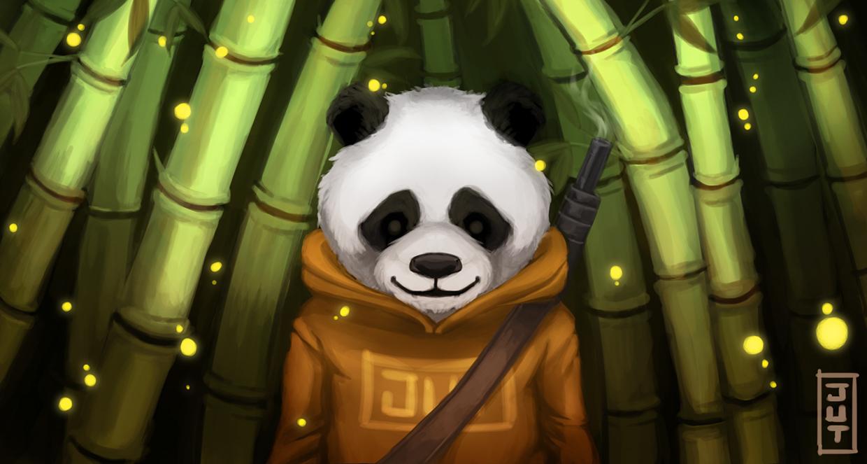illustration, panda, painting - juliastorybored | ello