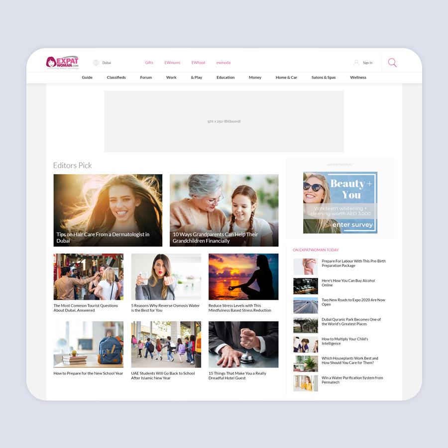 ExpatWoman Web Design
