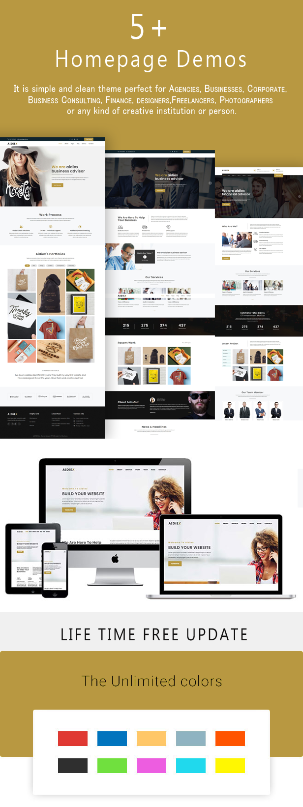 Aidiex – Business And Corporate Responsive Website - 1
