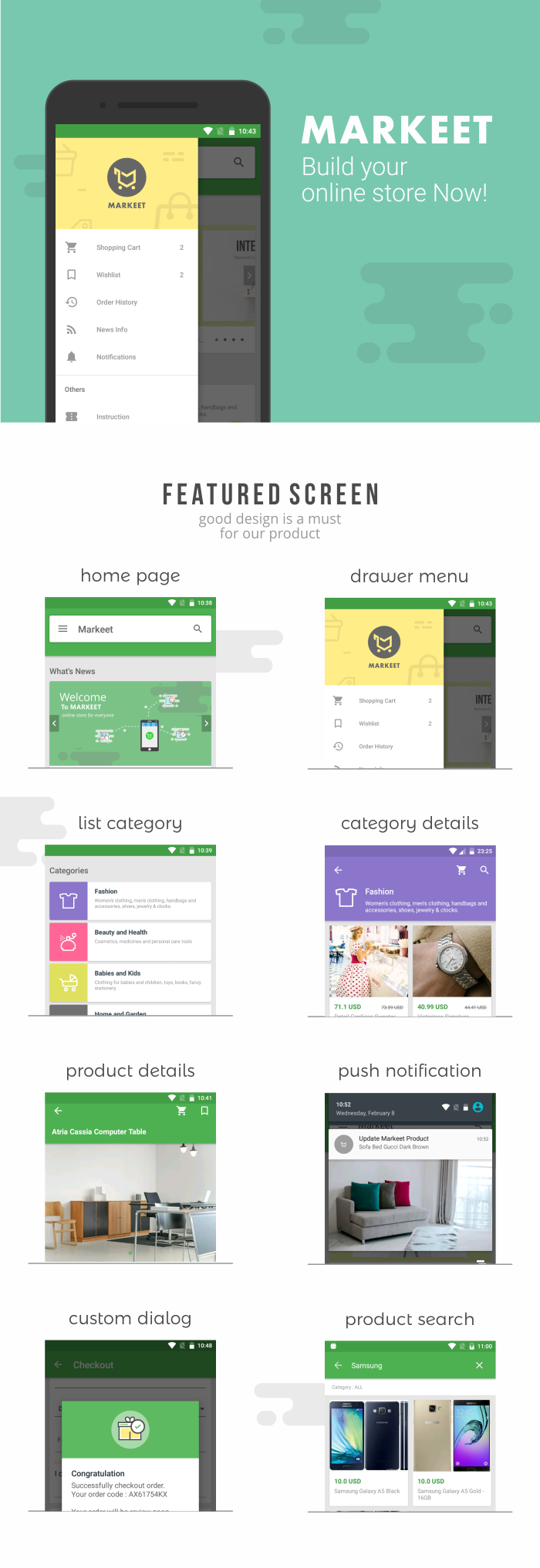 Markeet - Android Online Store 3.0 - 2