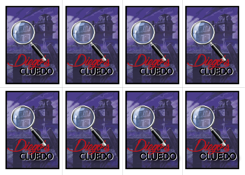 Reversos de las cartas de Diego's Cluedo