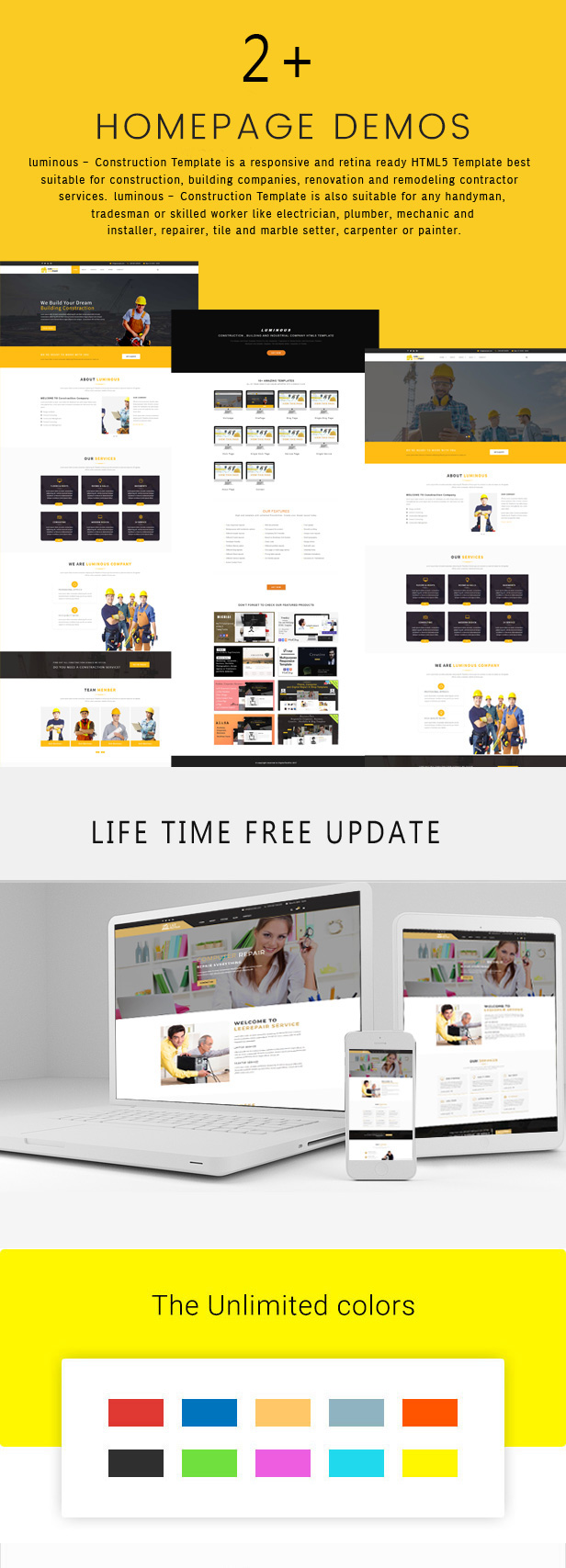 luminous - Construction , Building and Industrial Company HTML5 Template - 1