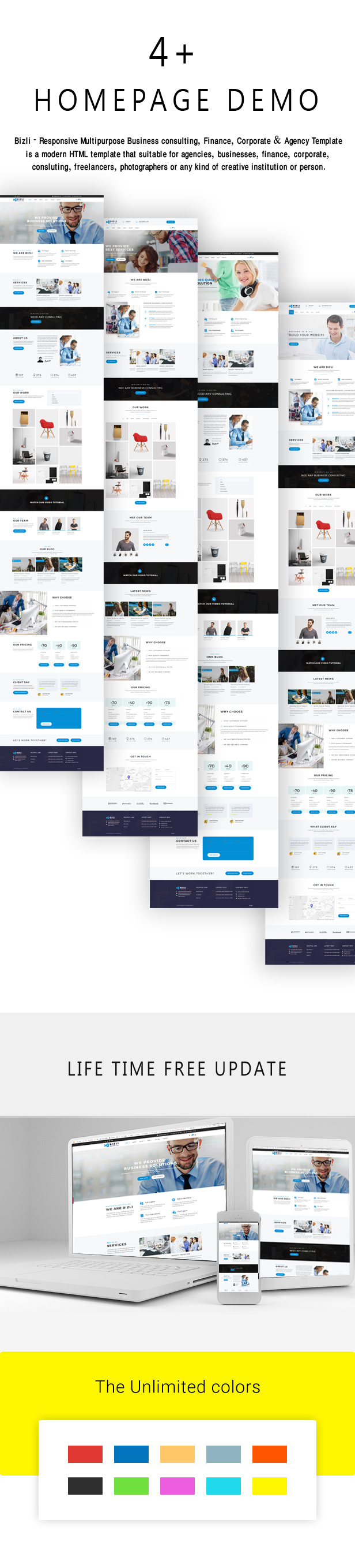 Bizli - Business Consulting, Finance, Corporate, Marketing , Agency Template - 1