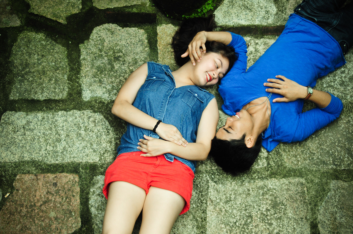 Couple Shoot photoshoot garden intramuros golden hour