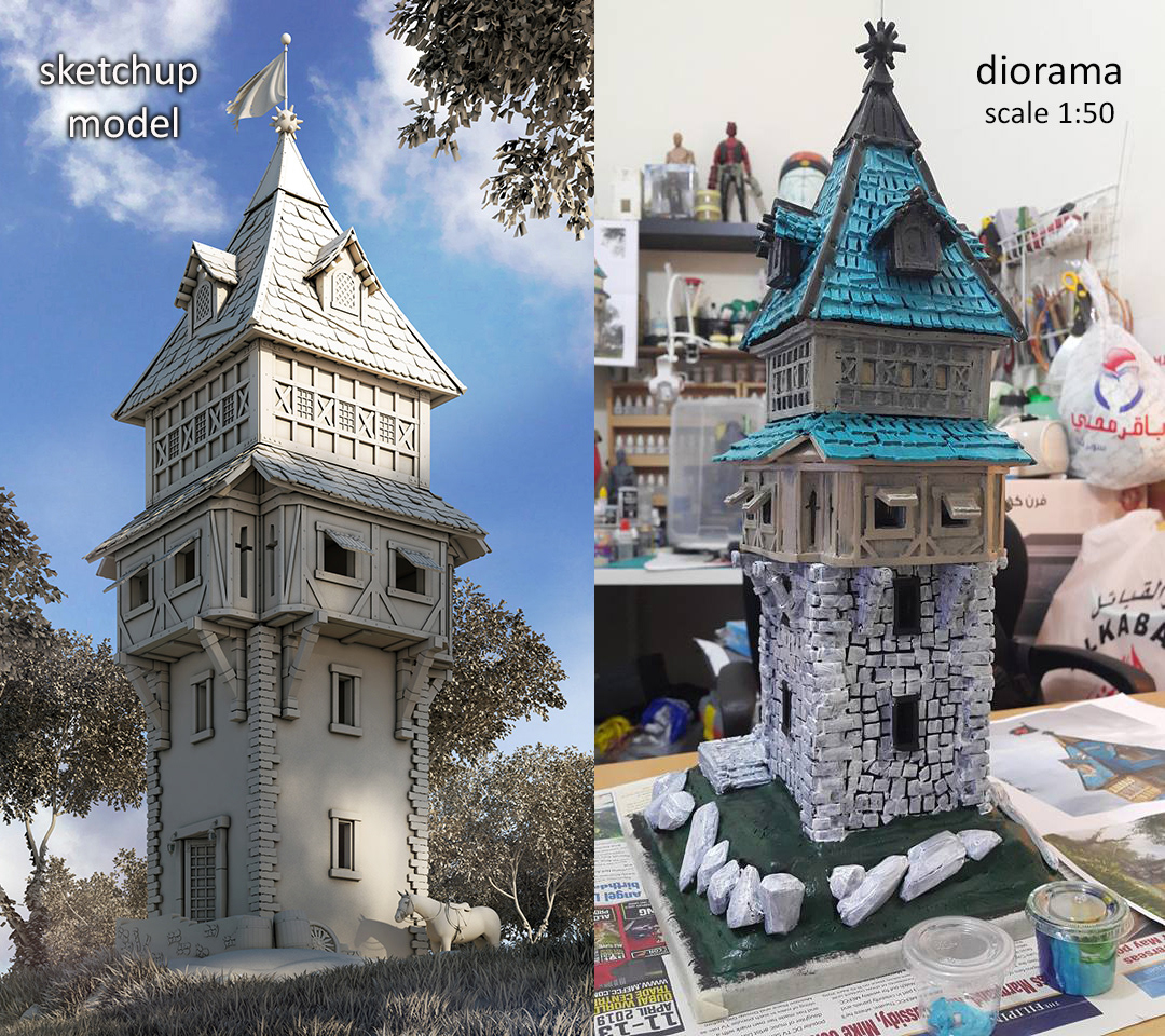 Sketchup Model to Foamwork....GUARD TOWER B0a70078936437.5cb4119276bcc