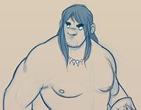 Conan the Cimmerian - Lunch sketch.
