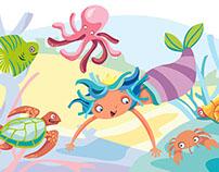 SANTILLANA: Mermaids for an Educational children book