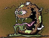 Plagued Potato Cartoon Character Sketch