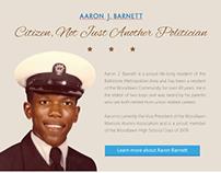 Aaron J. Barnett Campaign Site