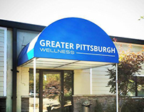 Greater PGH Wellness - Logo redesign, Awning design