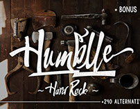 "Humblle ""Hard Rock Typeface"""