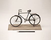 Bicycle scale model