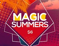 Magic Summer Party Flyer