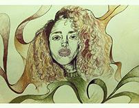 Benita illustration portrait