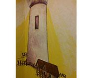 Children's light house mural