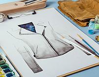 Muubaa Watercolor Leather Jacket