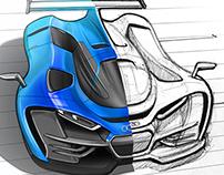 Audi Supercar Sketching