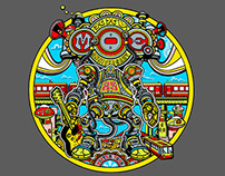 Poster & T-shirt Design for the moe. Winter Tour 2015