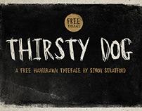 Thirsty Dog free typeface